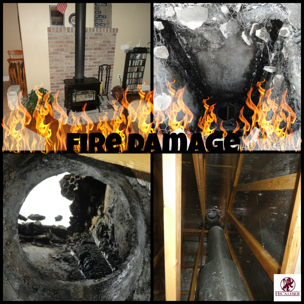 fire damage collage